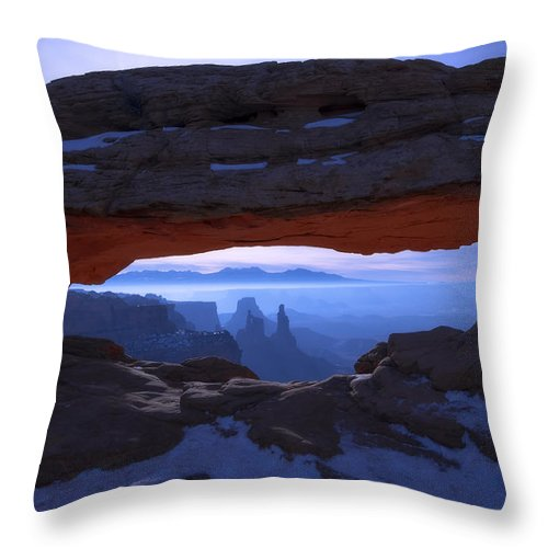 Moonlit Mesa Throw Pillow featuring the photograph Moonlit Mesa by Chad Dutson