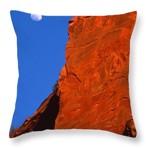 Full Moon Throw Pillow featuring the photograph Moonrise In Grand Staircase Escalante by Sandra Bronstein