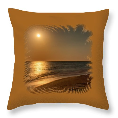 Beach Throw Pillow featuring the photograph Moonscape 3 by John M Bailey
