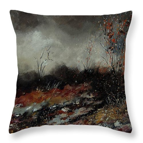 Landscape Throw Pillow featuring the painting Moonshine 459001 by Pol Ledent