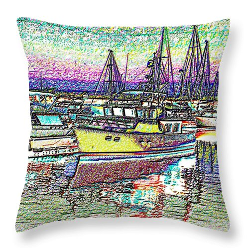 Seattle Throw Pillow featuring the photograph Moorage by Tim Allen