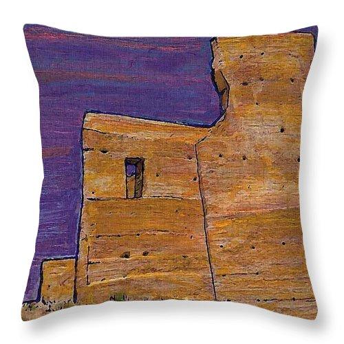 Moorish Fort In Jumilla Throw Pillow featuring the photograph Moorish Fort In Jumilla by Sarah Loft