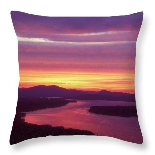 Mooselookmeguntic Lake Throw Pillow featuring the photograph Mooselookmeguntic Lake Maine by John Burk