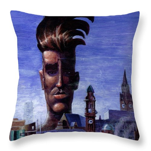 Morissey Throw Pillow featuring the painting Morissey by Ken Meyer