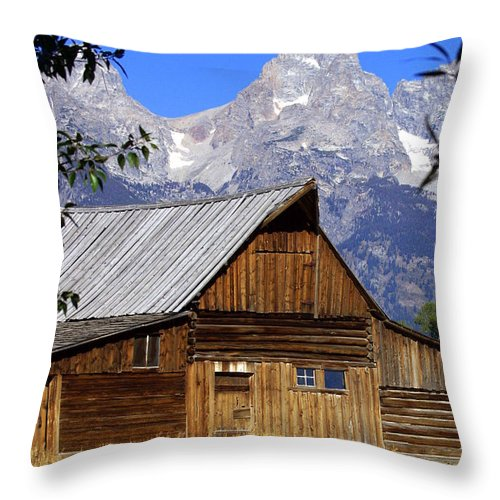 Barn Throw Pillow featuring the photograph Mormon Row Barn 1 by Marty Koch