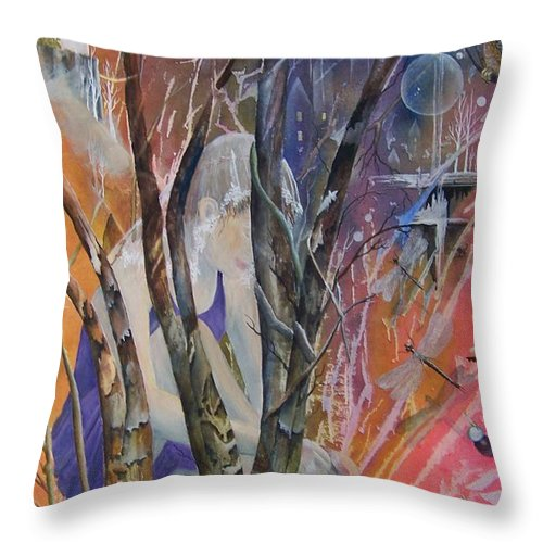 Dancer Throw Pillow featuring the painting Morna And Her Dancing Shoes by Jackie Mueller-Jones