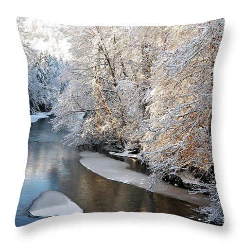 West Virginia Throw Pillow featuring the photograph Morning After Snowfall by Thomas R Fletcher