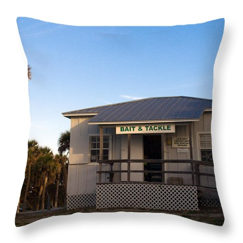 Morning Throw Pillow featuring the photograph Morning At Sebastian Inlet In Florida by Allan Hughes
