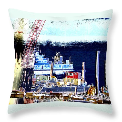 Abstract Throw Pillow featuring the photograph Morning Blooms by Rachel Christine Nowicki