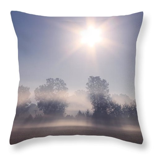 Sunrise Throw Pillow featuring the photograph Morning Clearing by Cathy Beharriell