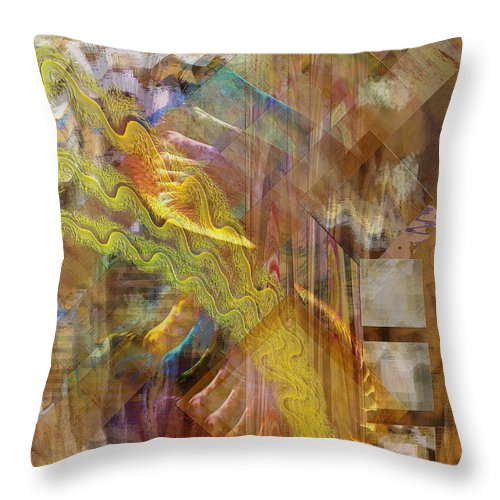 Morning Dance Throw Pillow featuring the digital art Morning Dance by John Beck