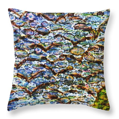 Abstract Throw Pillow featuring the painting Morning Flight by TB Schenck
