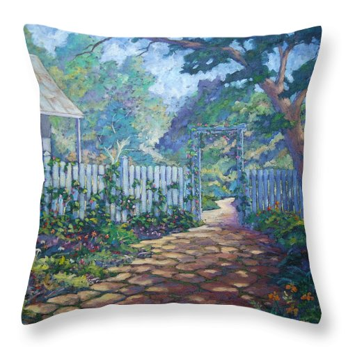 Painter Art Throw Pillow featuring the painting Morning Glory by Richard T Pranke