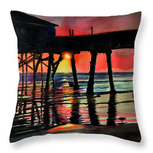 Art Throw Pillow featuring the painting Morning Glow 4-27-15 by Julianne Felton