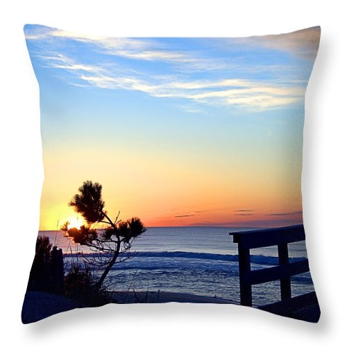 Beach Walk Throw Pillow featuring the photograph Morning I I by Newwwman