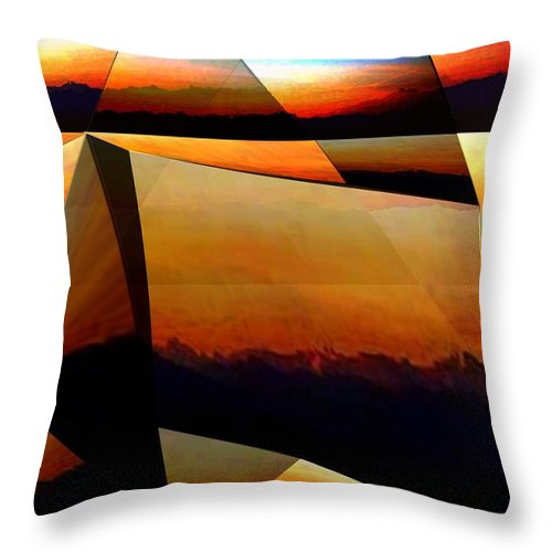 Alpen Throw Pillow featuring the mixed media Morning In The Alps by Helmut Rottler