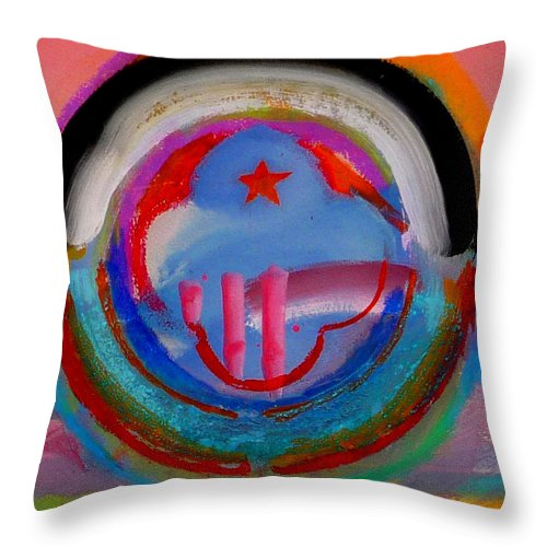 Logo Throw Pillow featuring the painting Morning Light by Charles Stuart