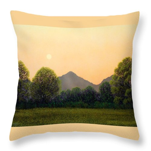 Landscape Throw Pillow featuring the painting Morning Light by Frank Wilson