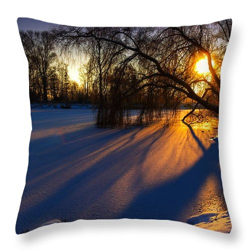 Ice Throw Pillow featuring the photograph Morning Light by Franziskus Pfleghart