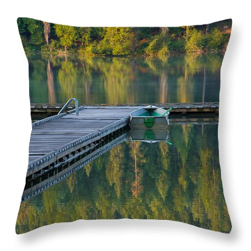 Dock Throw Pillow featuring the photograph Morning Light by Idaho Scenic Images Linda Lantzy