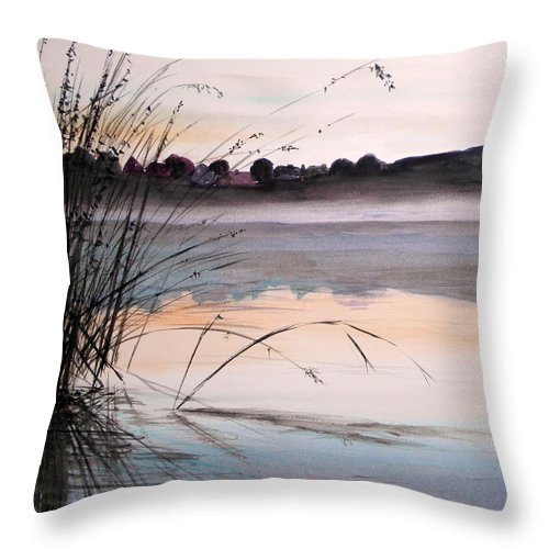 Watercolor Throw Pillow featuring the painting Morning Light by John Williams