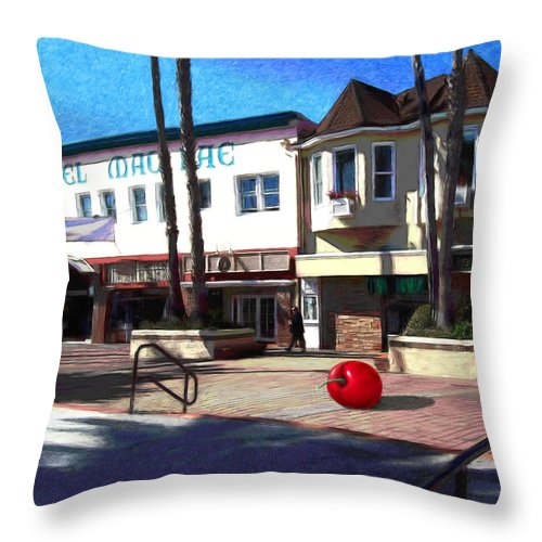 Catalina Throw Pillow featuring the painting Morning Light by Snake Jagger
