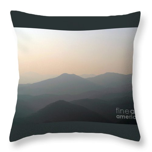 Aerial Throw Pillow featuring the photograph Morning Mountain Smoke by Alan Look