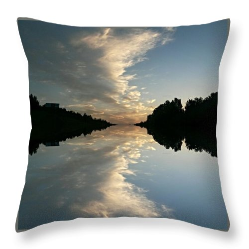 Morning Reflections Throw Pillow featuring the photograph Morning Reflections by Maria Urso