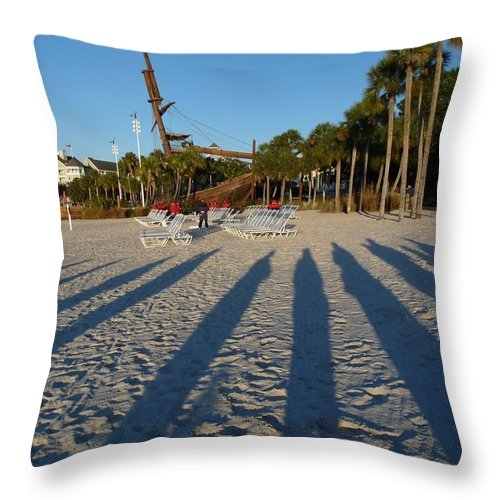 Shadows Throw Pillow featuring the photograph Morning Shadows by Nora Martinez