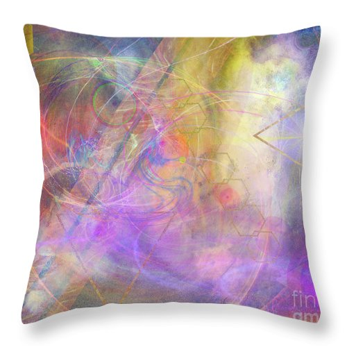 Morning Star Throw Pillow featuring the digital art Morning Star by John Beck