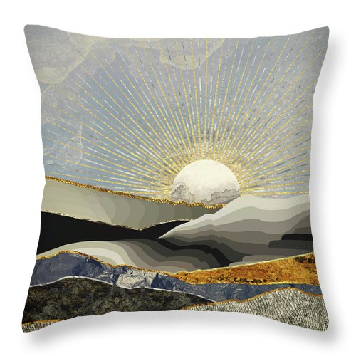 Morning Throw Pillow featuring the digital art Morning Sun by Katherine Smit