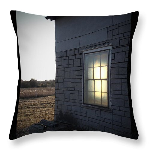 Window Throw Pillow featuring the photograph Morning Sun Window by Tim Nyberg