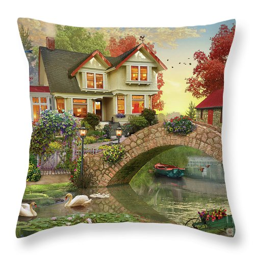 Morning Sunrise Throw Pillow featuring the digital art Morning Sunrise by MGL Meiklejohn Graphics Licensing