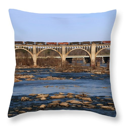 Morning Throw Pillow featuring the photograph Morning Train by Kelvin Booker