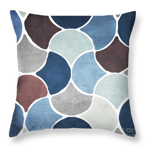 Pattern Throw Pillow featuring the painting Moroccan Blues by Mindy Sommers
