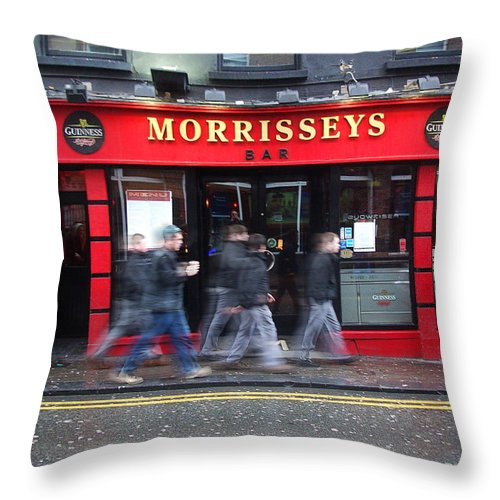 Pub Throw Pillow featuring the photograph Morrissey by Tim Nyberg