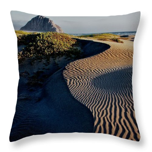 Nature Throw Pillow featuring the photograph Morro Strand State Beach, California by Zayne Diamond Photographic