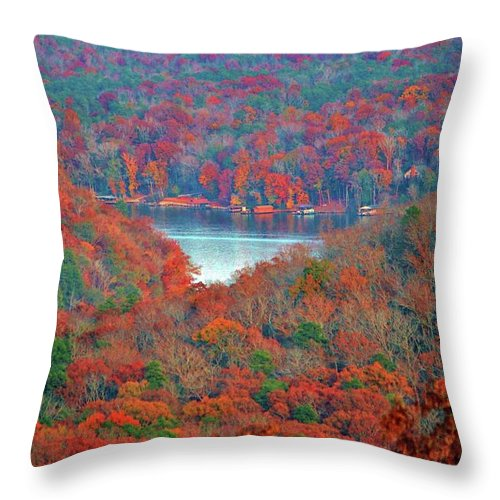 Spectacular Throw Pillow featuring the photograph Morrow Mountain Overlook by Cynthia Guinn
