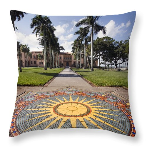 Mosaic Throw Pillow featuring the photograph Mosaic At The Ca D by Mal Bray