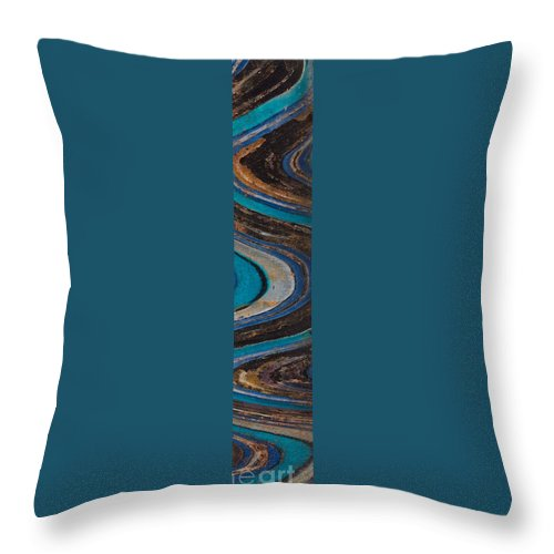 Mosaic Tower Throw Pillow featuring the painting Mosaic Tower by Celestial Images