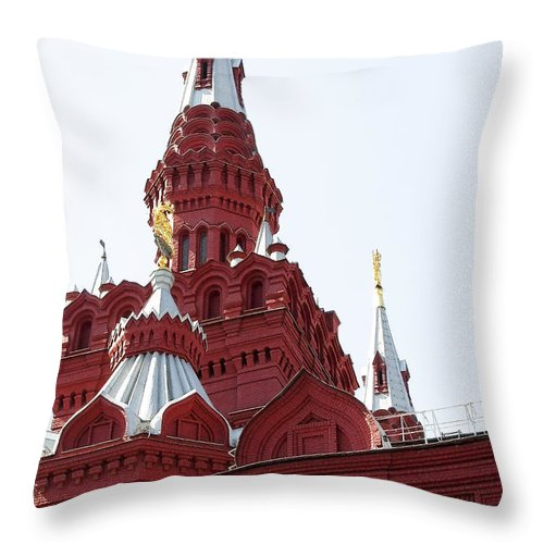 Architecture Throw Pillow featuring the photograph Moscow04 by Svetlana Sewell