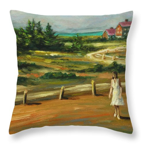 Family Throw Pillow featuring the painting Mother And Child by Rick Nederlof