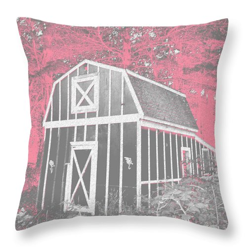 Scenic Throw Pillow featuring the photograph Mother Goose's Barn by Erin Rosenblum