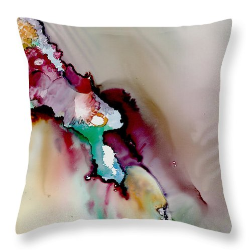 Abstract Throw Pillow featuring the painting Mother Lode by Susan Kubes