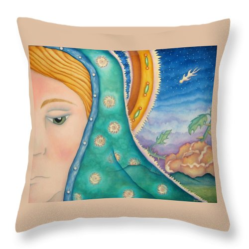 Texas Throw Pillow featuring the painting Mother Of My Soul by Jeniffer Stapher-Thomas
