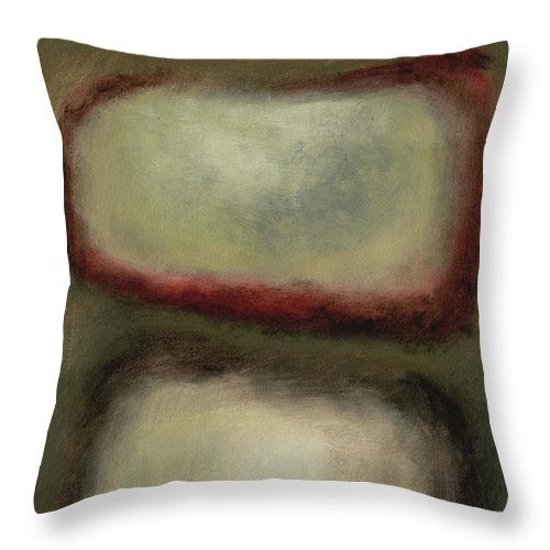 Abstract Paintings Throw Pillow featuring the painting Mother Of Pearl by Meridith Martens