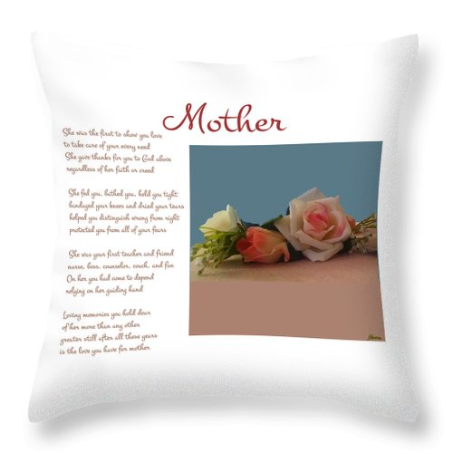 Mother Throw Pillow featuring the digital art Mother by Pharris Art