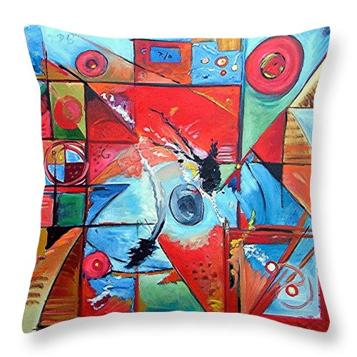 Motion Throw Pillow featuring the painting Motion by Gary Coleman