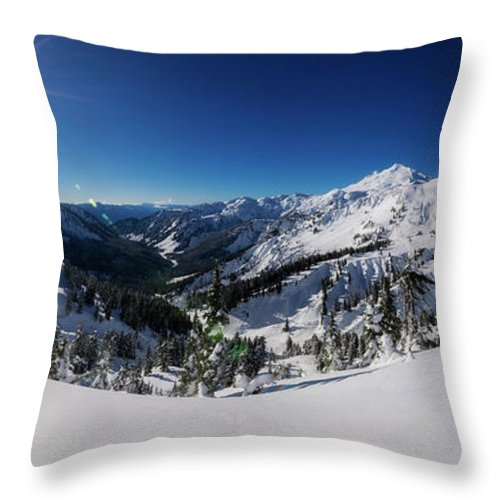 Baker Throw Pillow featuring the photograph Mount Baker 2 by Pelo Blanco Photo
