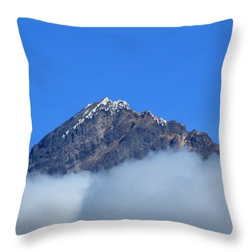 Mount Cotacachi Throw Pillow featuring the photograph Mount Cotacachi Above The Clouds by Robert Hamm